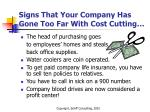 signs that your company has gone too far with cost cutting
