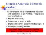 situation analysis microsoft enabler