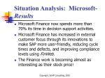 situation analysis microsoft results