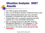 situation analysis snet results