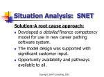 situation analysis snet61
