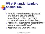 what financial leaders should do14
