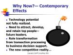 why now contemporary effects
