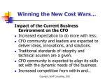 winning the new cost wars