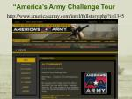 america s army challenge tour