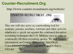 counter recruitment org