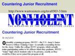 countering junior recruitment