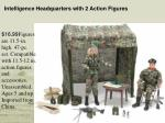 intelligence headquarters with 2 action figures