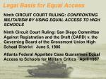 legal basis for equal access