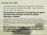 october 26 2001
