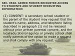 sec 9528 armed forces recruiter access to students and student recruiting information45