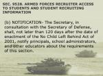 sec 9528 armed forces recruiter access to students and student recruiting information47