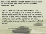 sec 9528 armed forces recruiter access to students and student recruiting information48