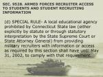 sec 9528 armed forces recruiter access to students and student recruiting information49