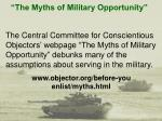 the myths of military opportunity