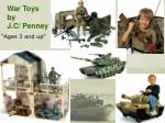 war toys by j c penney