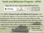 youth and militarism program afsc