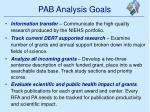 pab analysis goals