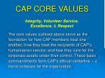 cap core values