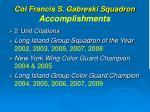 col francis s gabreski squadron accomplishments