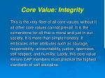 core value integrity