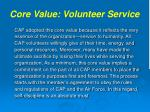 core value volunteer service