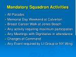 mandatory squadron activities