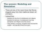 the answer modeling and simulation