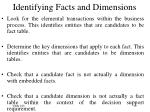 identifying facts and dimensions