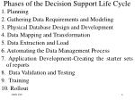 phases of the decision support life cycle