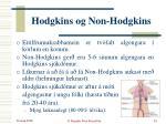 hodgkins og non hodgkins