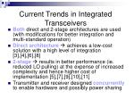 current trends in integrated transceivers