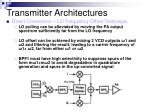 transmitter architectures8