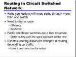 routing in circuit switched network