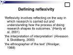 defining reflexivity
