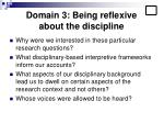 domain 3 being reflexive about the discipline18