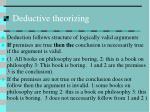 deductive theorizing