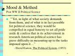 mood method post ww ii political science