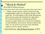 mood method post ww ii political science72