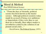 mood method post wwii political science