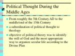 political thought during the middle ages