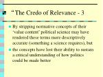the credo of relevance 3