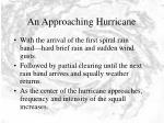 an approaching hurricane