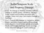 saffir simpson scale and property damage