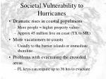 societal vulnerability to hurricanes