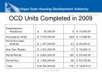ocd units completed in 2009