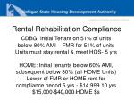 rental rehabilitation compliance