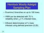 hemlock woolly adelgid sampling plan