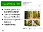 the sampling plan