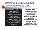 difference between abc and traditional product costs